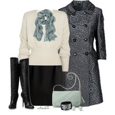 """""""Mint Scarf"""" by christa72 on Polyvore"""