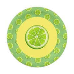 """#party - #7"""" Paper Plates-Limes Paper Plate"""