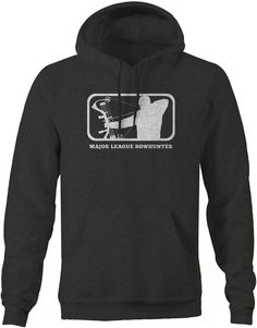 Major League Bowhunting Full Draw Hunting Archery Mens Sweatshirt Charcoal #OneStopOutfitters #Charcoal