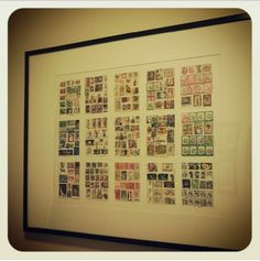 Vintage stamp collection turned into art :)