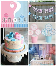 Reveal Gender Party Ideas!....Ideas para un Baby Shower para Revelar el sexo del…