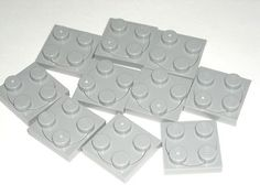 LEGO 10 Light Bluish Gray Turntables 2x2 Plate Complete Assembly 4867 $1.99