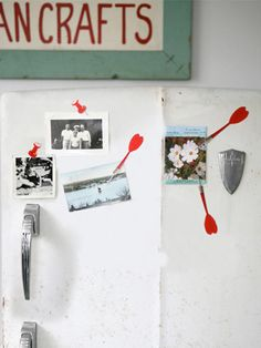 These dart fridge magnets have a point. #diy #crafts #kitchen