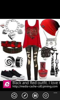 My style but a little less red and a little more black