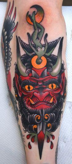 peter lagergren devil traditional tattoo
