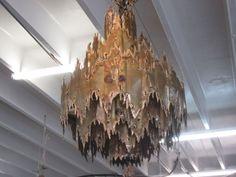 Brutalist Tom Greene Torch Cut Chandelier Palm Beach Regency, Brutalist, Chandelier, Ceiling Lights, Lighting, Candelabra, Light Fixtures, Ceiling Lamps, Lights