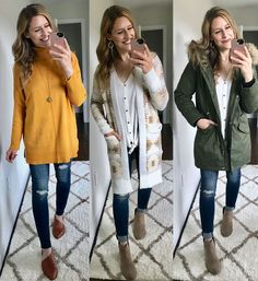 Sweater cardigan and parka from Walmart -wow! - Walmart Fashions - Ideas of Walmart Fashions - Sweater cardigan and parka from Walmart -wow! Fall Outfits 2018, Winter Outfits For School, Fall Outfits For Work, Casual Winter Outfits, Casual Skirt Outfits, Mom Outfits, Fashion Outfits, Tan Cardigan Outfit, Sweater Cardigan