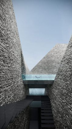 These pyramids are the location for both outdoor and indoor pools. The architecture is stunning.