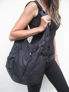 ninja assassin hobo bag by jungletribecouture on Etsy, $469.00