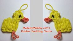 Adorable Duck Charm on the Rainbow Loom