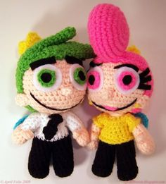 Cosmo and Wanda (fairly odd parents) Amigurumi - Free pattern