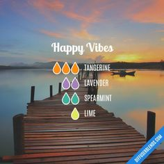 Essential Oil diffuser blends Happy Vibes - Essential Oil Diffuser Blend by ZaraFee invitation so th Essential Oil Diffuser Blends, Doterra Essential Oils, Doterra Blends, Yl Oils, Aroma Diffuser, Diffuser Recipes, Aromatherapy Oils, Ayurveda, Happy Vibes