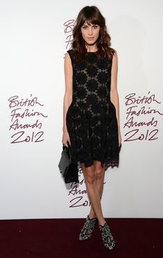 Alexa Chung  - British Fashion Awards 2012 - Inside Arrivals