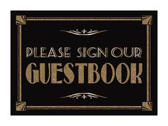 Please Sign Our GUESTBOOK  Printable  Art by PSPrintables on Etsy