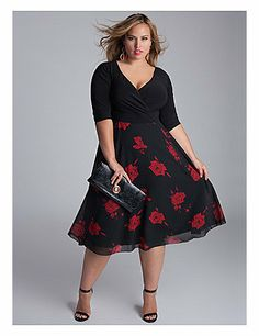 Sultry and sensual come to mind with this high waist, full and flared chiffon print skirt  a nod to the trend for longer hems. Worn on or off the shoulder, this classic beauty could be paired with pearls or vintage jewels and a delicate strappy shoe or peep toe pump. sonsi.com