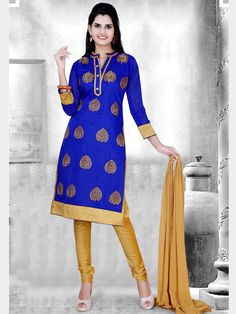 Explore the essence of a fashionable woman in you.  Item Code: SLTY1094 http://www.bharatplaza.com/new-arrivals/salwar-kameez.html