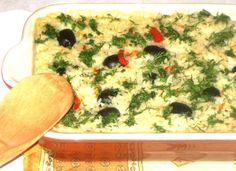 Orez cu legume si masline la cuptor