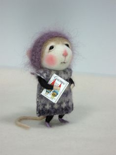 Needle Felting Class to create BOTH the Bunny and Mouse By Barby Anderson