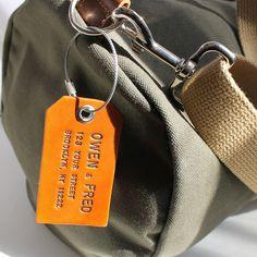 Custom Wedding Gift Ideas: Leather Luggage Tag