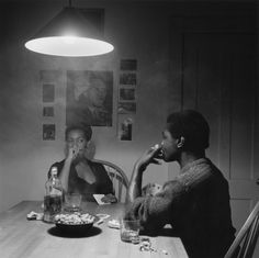 Carrie Mae Weems, Untitled (Man Smoking/Malcolm X), from the Kitchen Table series, 1990