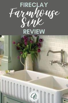 Double Farmhouse Sink, Fireclay Farmhouse Sink, Fireclay Sink, Farmhouse Sink Kitchen, Cottage Kitchens, Shabby Chic Kitchen, Victorian Kitchen, Victorian Farmhouse, Vintage Farmhouse