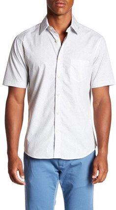 Kennington Trapped Flower Short Sleeve Trim Fit Shirt