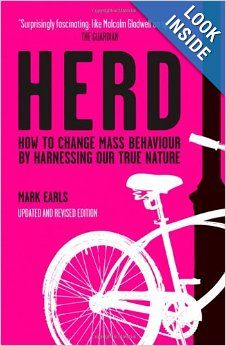 """The Herd by Mark Earls is one of the most fascinating books of the last few years, and one with direct relevance to marketers and researchers alike. Written in a very engaging style and filled with great examples, it offers a challenge to the current predominantly psychological model of research and marketing. In short, it suggests """"we're a lot less individual than we think we are and we're a lot more influenced by other people's behaviour than we'd care to admit."""""""