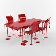 Dripping Blood Table + Chairs