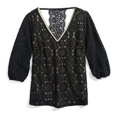 Stitch Fix Monthly Must-Haves: From office to date night, a romantic lace-overlay blouse is a wardrobe staple that can be worn year round.