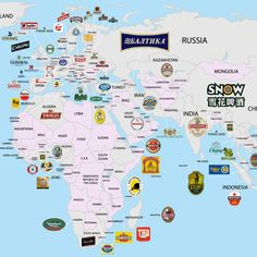 The Beer Globe: Which Breweries Dominate All Over the World | via FWx