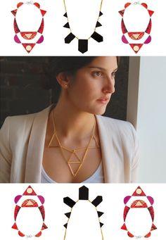 DIY: sophie monet geometric necklace
