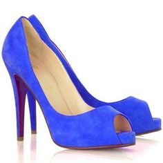 Christian Louboutin Very Prive 120mm Suede Pumps Blue 0213