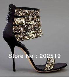 Новый дизайн бесплатная доставка сексуальное золото хрустальные туфли на каблуках сандалии 2014 классические туфли женщина