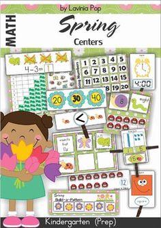 FREE Kindergarten Spring Math and Literacy Mega Bundle Sampler.