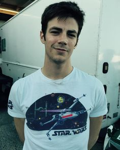 Can't get any more attractive than wearing a Star Wars shirt.