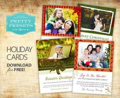 4 Free Christmas Cards   Pretty Presets for Lightroom