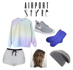"""Untitled #282"" by cal03 ❤ liked on Polyvore featuring Topshop, NIKE, BCBGMAXAZRIA, GetTheLook and airportstyle"