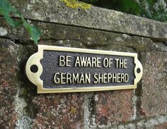 German Shepherd Beware of the Dog Signs - German Shepherd - Pedigree Collection - Pet Products - Lifestyle - Catalogue | Black Country Metal Works