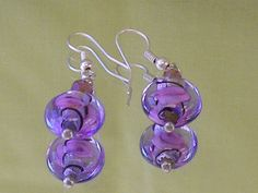Vintage Lampwork Glass Earrings Pierced by EternalElementsEtsy