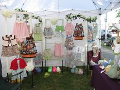 Home sewn, hand crocheted children's clothing by hanagalia designs. Crochet For Kids, Hand Crochet, Stall Display, Display Ideas, Stand Feria, Craft Fair Displays, Market Displays, Kids Pop, Kids Boutique