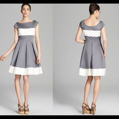 NWT Gorgeous kate spade ADETTE dress in white/grey This dress is absolutely gorgeous! And it's brand new with tags! It features a super flattering fit and the colors are so chic! Make this yours today! kate spade Dresses