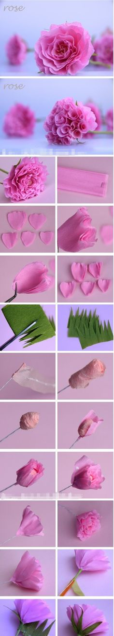 How to DIY Beautiful Crepe Paper Rose Centerpiece | www.FabArtDIY.com LIKE Us on Facebook ==> https://www.facebook.com/FabArtDIY