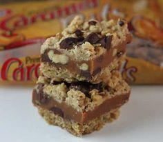 Chocolate Caramel Oat Bars