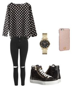 """Untitled #151"" by aandreead ❤ liked on Polyvore featuring Topshop, Philipp Plein, Marc by Marc Jacobs and Tory Burch"