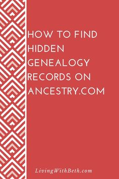 genealogy offers a mindblowing array of genealogy records, but you might be surprised to learn that not all of those records show up in a normal search. Free Genealogy Records, Free Genealogy Sites, Genealogy Search, Genealogy Forms, Genealogy Chart, Family Genealogy, Genealogy Humor, Free Ancestry Search, Ancestry Free