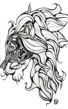 tribal lion tattoos