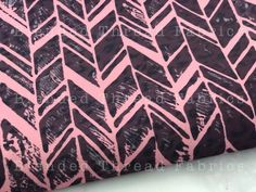 Double Brushed Poly - Stamped ZigZag - Per 1/2 Yard
