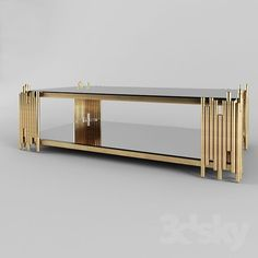 Barcelona Modern Rectangular Glass Coffee Table