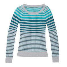 Organic Cotton Stripe Sweater - $69 (coastal green)