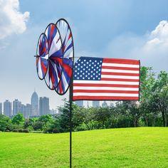 """18/"""" LEPRECHAUN Whirligig Wind Spinner Garden Decor by Premier Kites /& Designs"""